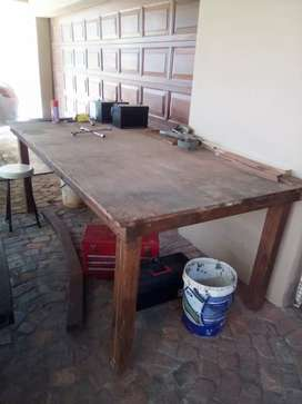 Works wooden table