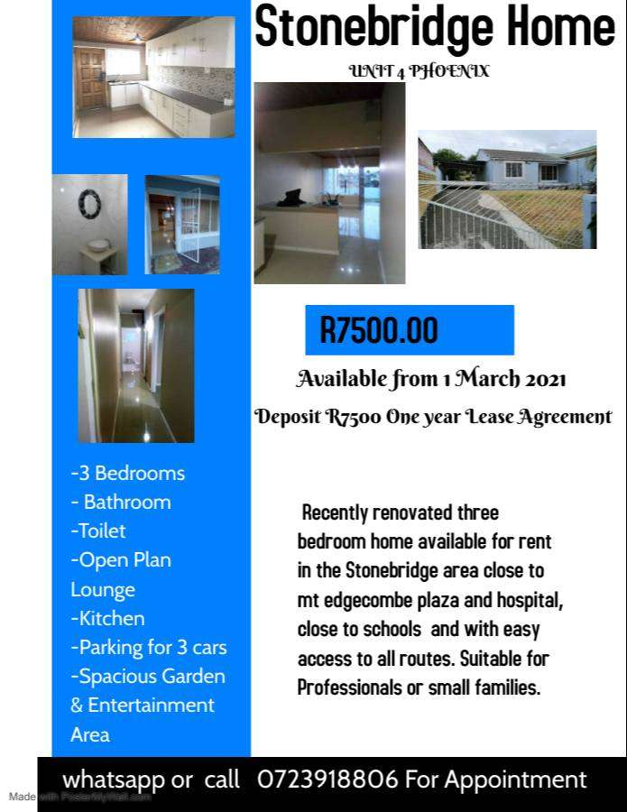 COTTAGES FOR RENT WEST DRIVE, KING WILLIAMS TOWN 1 MARCH 2021 0