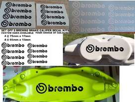 Brembo caliper decals stickers