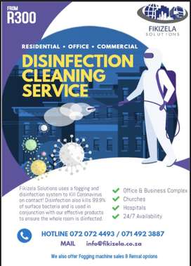 Fogging and disinfection