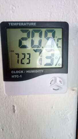 Temperature, clock anh humidity