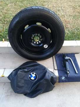 BMW X3 F25 Spare Wheel kit Continental Tyre Wheel Cover Tool kit T bag