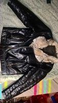 Продам кожаную зимнюю мужскую куртку