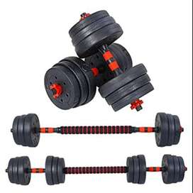 Brand new 30kg and 40kg dumbells, adjustable to barbell as well!