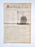 '' Nowa kultura '' , tygodnik z PRL ; Nr 16+17 z 20 kwietnia 1952 roku