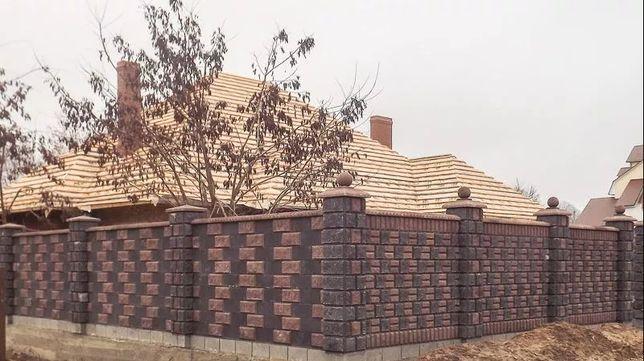 Блок заборный, блок колотый, блок декоративный, рваный камень, скала, Житомир - изображение 1
