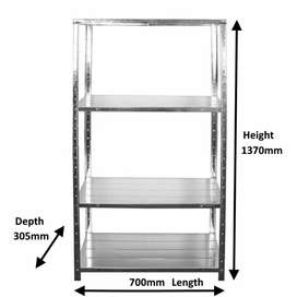 DIY Galvanised Steel Shelving BRAND NEW - STOCK CLEARANCE