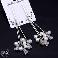 Pearl silver earrings 0