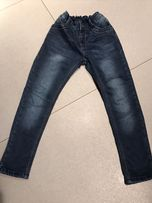 Spodnie jeansowe ocieplane nowe r.140