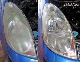 Polerowanie regeneracja lamp reflektorów kloszy samochodowych