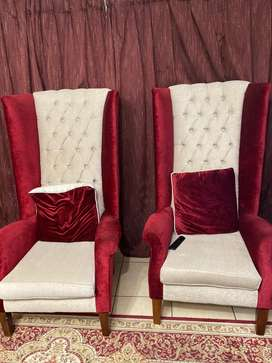 Wingback chairs (two)