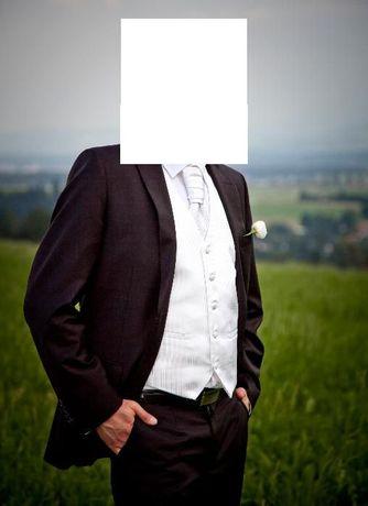 Suknia ślubna biała 36/38 +welon+buty+kamizelka+krawat Kraków - image 4