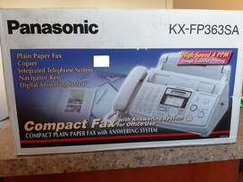 Panasonic plain paper fax with answering system