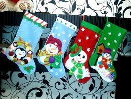 Новогодние сапожки. Новогодние носки. Рождественский сапог.