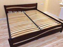 Деревянная двуспасльная кровать полуторная Подростковая кровать ДЕРЕВО