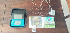 Nintendo 3DS, protective case & 3+ games