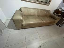 Coricraft 3 seat leather couch