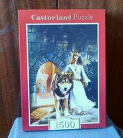Пазлы Castorland на 1500 деталей Женщина с волком