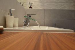 blat łazienkowy z drewna TEAK