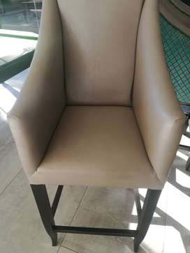 Exquisite leather bar chairs for sale