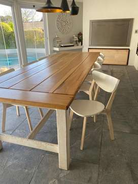 Kiaat dining table and chairs
