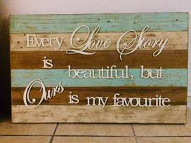 The Perfect Couples gift! Love Story wall decor piece