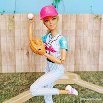 Barbie йога Бейсболистка блондинка Барби Made to Move Новинка 2018