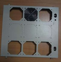 Рама для полка стенка охладжения Rittal под 9 вентиляторов 120мм