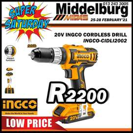 20V INGCO Cordless Drill for ONLY R2200!