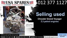 Chrysler Grand Voyager 3.3 petrol 2003-07 used engines for sale