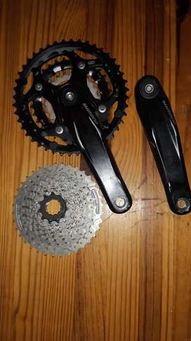 3×9 shimano gears and cranks