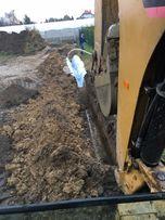 Odwodnienia przyłącza kanalizacyjne drenaże