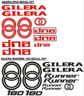 Gilera stickers decals vinyl cut graphics kits