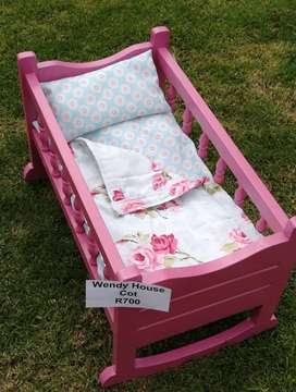 Wooden doll cot in excellent condition