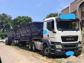 MAN TGS 440 WITH AFTRIT ITERLINK SIDE TIPPER