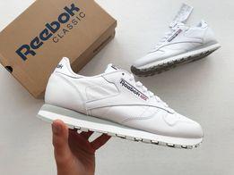 Кроссовки белые Reebok Classic Leather 2214 кожаные оригинал