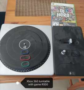 Xbox 360 gun and game, Xbox turntable with game R500 EACH
