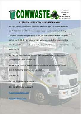 Comwaste, Waste removal and recycling,  an essential service