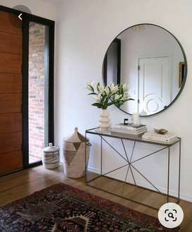 Hanging mirror + console table