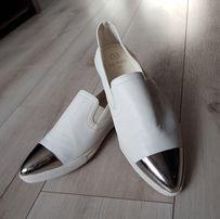 LU BOO buty srebrna blaszka r.40