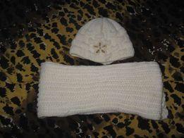 komplet zimowy czapka + szal