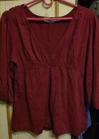 Ciemno czerwona bordowa bluzka M L XL wwysyłka