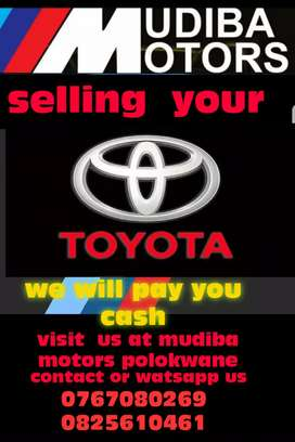 We will buy  your vehicle for cash