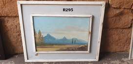 Vintage unsigned Mountains Painting (525x425)