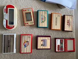 Vintage and rare Nintendo Game and Watch handehlds