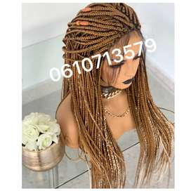 BLONDE OMBRE LACE FRONT BRAID WIG WITH SOFT BABY HAIR