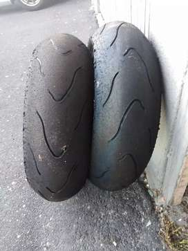 Motorcycle tyres in excellent condition