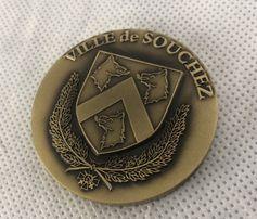 Masywny medal moneta okolicznościowa Ville de Souchez Francja