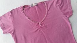 Bluzka, koszulka, róż, malina, polski producent, rozmiar xs