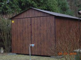 Garaże blaszaki blaszane garaż blaszany blaszak drzwi kolor ORZECH